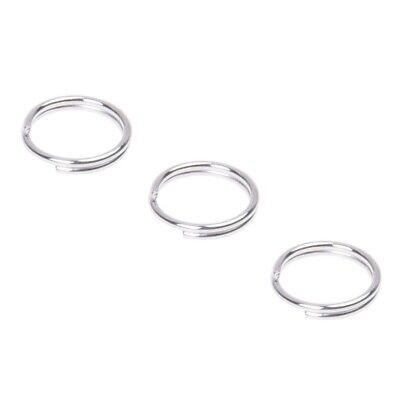 5X(500 X Aro Findings Silver Tone Ring Connector 7mm V4I1)
