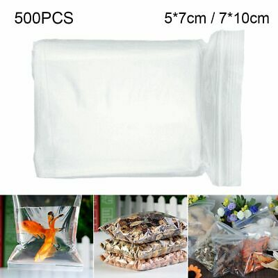 500 Grip Resealable Zip Lock Bags Self Seal Clear Plastic Poly Ziplock Bag