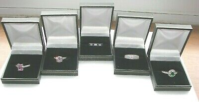 Leatherette Ring Box BLACK 96x Ring Boxes. 48x Wholesale prices 12x 24x