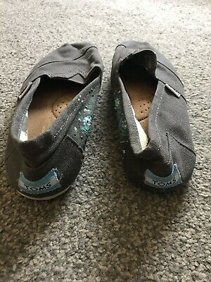 Toms Classic Canvas Shoes Womens Size 6/ UK 4 Anthracite Grey