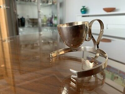 Antique Silver Plate Egg Cup C1900 Hukin & Heath by Christopher Dresser