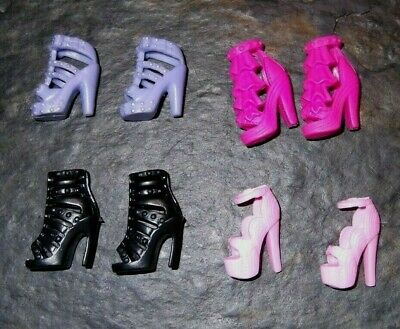 BARBIE DOLL SHOES k44 - 4 PAIRS of ASSORTED MODERN SANDALS