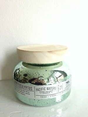 Large mercury glass candle jar with contemporary wooden lid, ideal candle making
