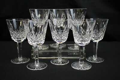 "Set of 8 Waterford Crystal Lismore 5 7/8"" Wine Glasses / Water Goblets MINT"