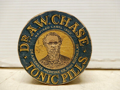 Antique Container Dr A W Chase Tonic Pills Unopened Nos