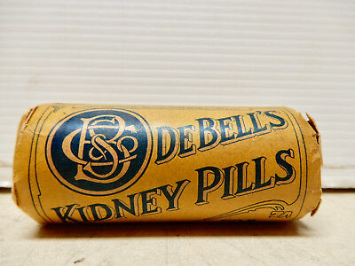 Antique Container Debells Kidney Pills  Unopened Nos