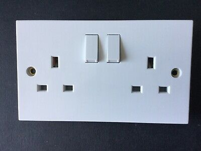 Selectric Square LG9098 13A Switched Double Socket
