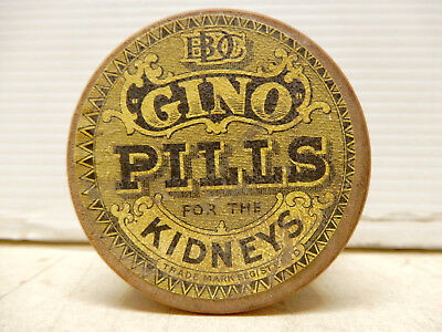 Antique Container Gino Pills For The Kidney Unopened Nos