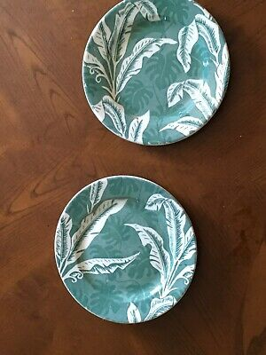 Two Vintage 8 Inch Tip Call Banana Leaf Plates