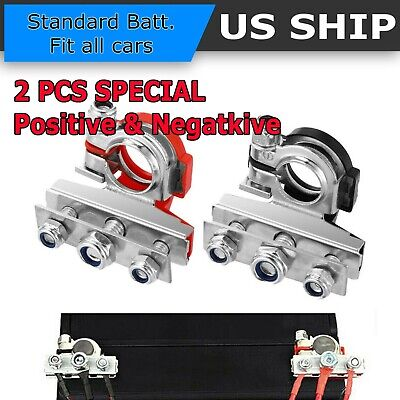 2PCS Battery Terminal Heavy Duty Car Vehicle Quick Connector Cable Clamp Clip