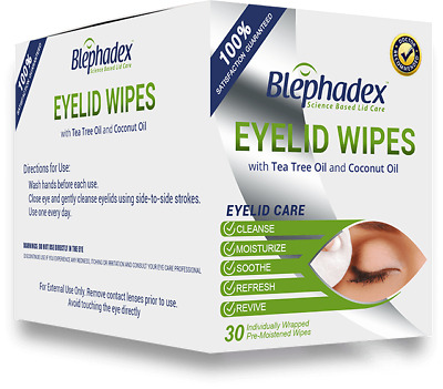 Blephadex Eyelid Wipes For Blepharitis and Demodex 100% Satisfaction Guaranteed