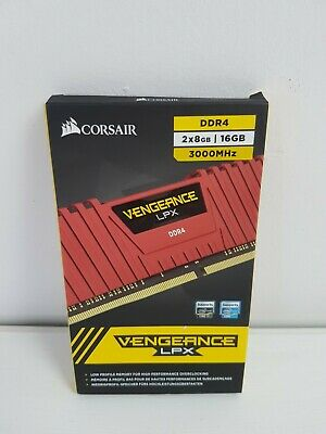 Corsair Vengeance Memory Kit Desktop LPX 16GB (2x8GB) DDR4 DRAM 3000MHz C15 RED