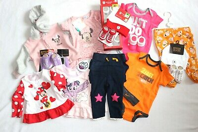 Job lots baby girls Disney, Nike, mixed brands new clothes  0-3, 3-6 months