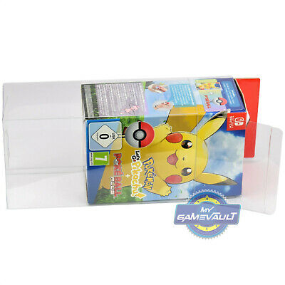 1 BOX PROTECTOR for Nintendo Switch Game Pokemon Let's Go Pikachu Eevee & Ball