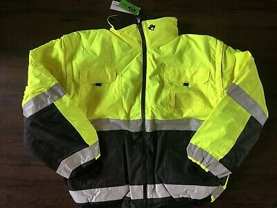 NEW 2W CONCERN FOR SAFETY 350C-3 Reflective Safety Reversible Jacket Hood XXL