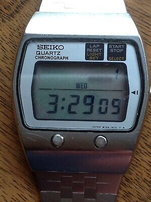 vintage seiko lcd watch