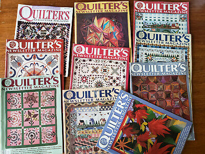 lot of 10 Quilters magazines Sewing Quilting Patterns