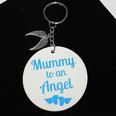 Personalised Memorial Keepsake  Angel Baby Infant Loss Mummy to an Angel Keyring