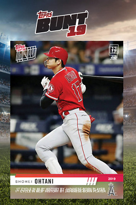 2019 TOPPS NOW VIDEO CARD SHOHEI OHTANI Topps Bunt Digital Card