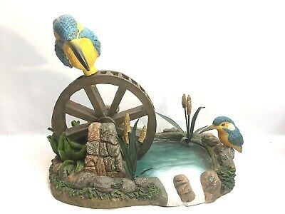 Kingfisher On Water By Pond River Kingfishers Birds Ornament Figurine