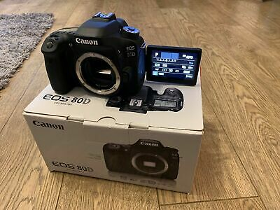 Digital SLR Camera Canon EOS 80D 24.2MP - Black (Body Only) Low Count