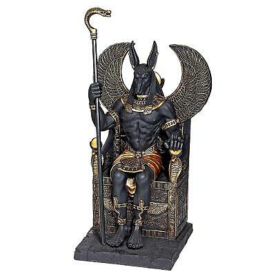 WU76733 - Egyptian Anubis God Sitting on the Throne of the Underworld Statue