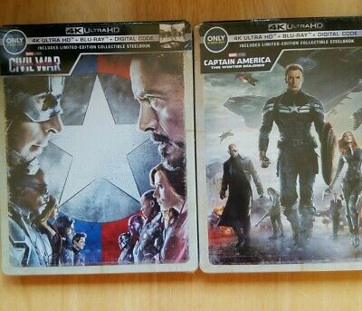 Captain America:Civil War/ Winter Soldier Steelbooks Best Buy 4k/Digital/ Bluray