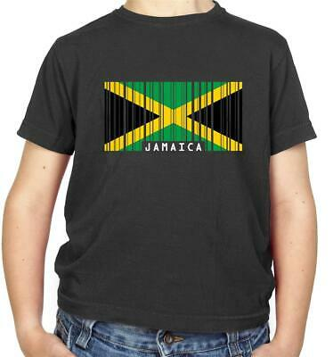 Jamaica Barcode Style Flag - Kids T-Shirt - Jamaican - Country - Travel - Flags