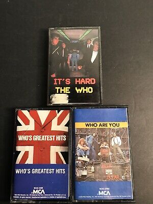 Lot of 3 The Who Cassette Tapes-greatest Hits, Who Are You, It's Hard