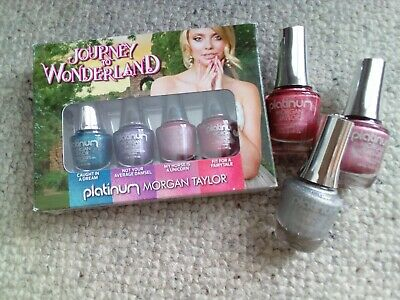 Holographic Nail Varnish Polish Morgan Taylor 4 x 5ml plus 3 x 15ml  7 colours