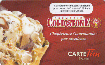 Tim Hortons gift card FD-22035 in French  Cold Stone 2011