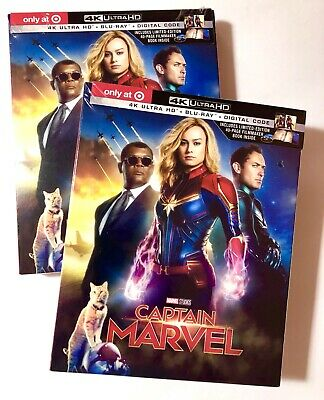 CAPTAIN MARVEL Target Exclusive 4K/UHD + BLU-Ray + Digital & Gallery Book