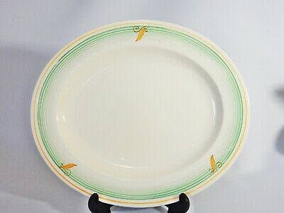 Beautiful Vintage Antique Art Deco Burleigh Ivory Oval Platter Serving Plate