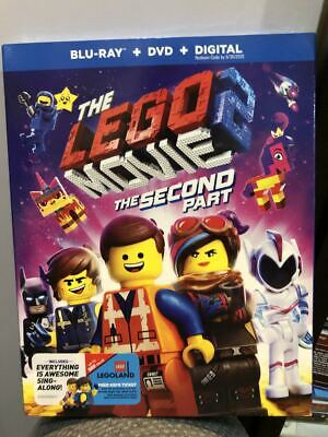 The Lego Movie 2:The Second Part(Blu-Ray+Dvd+Digital)W/Slipcover New