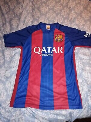 980983c91b985 Lionel Messi #10 FC Barcelona Qatar Airways Unicef Soccer Jersey small