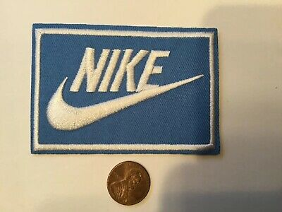 "Nike  Logo/ Emblem Embroidered Iron On  PATCH 3.3"" x 2.1"""