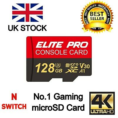 128GB Micro SD SDXC  Memory Card For Nintendo Switch, GoPro, Camera, CCTV,Mobile