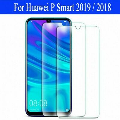 For Huawei P Smart 2019/2018 Case 9H Tempered Glass Film Screen Protector 1/2X