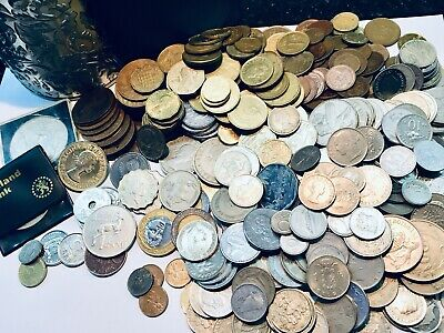 350+ Joblot Mixed World Coins (1.9Kgs) Uk Africa Asia Europe Collection