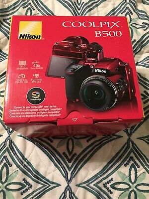 Nikon CoolPix B500 Digital Camera Open Box 16MP 1080P Video 40x Optical Zoom