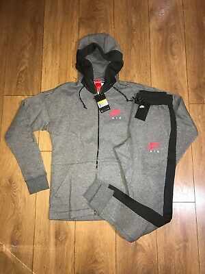 Mens Grey Nike Air Full Tracksuit fleece nsw top and bottoms All sizes tribute