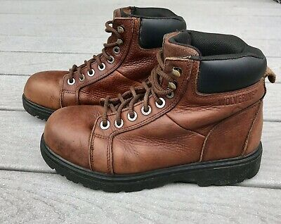 22f6c7b3294 WOLVERINE MENS MANAWA Brown Leather Work Safety Boots Shoes Size ...