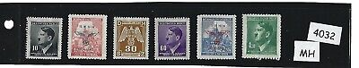 Small MH stamp set / Adolph Hitler / Swastika / Third Reich Occupation BaM WWII