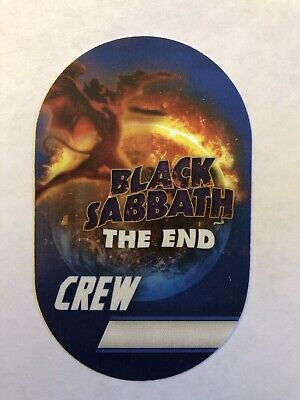 Black Sabbath The End Tour Crew Satin Sticky Backstage pass Unused