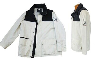 c2d3ae3c2 NAUTICA VTG 90S Colorblock Spell Out Hooded Sailing Ski Jacket Mens ...