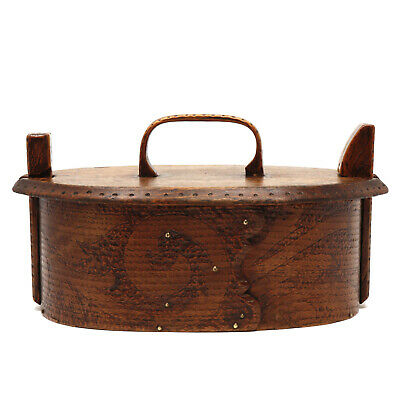 Antique Norwegian Bentwood Sewing Box Late 19th Century