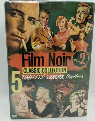 SEALED Film Noir Classic Collection Vol 2 (5-Disc DVD Box Set 2005) Thriller NEW