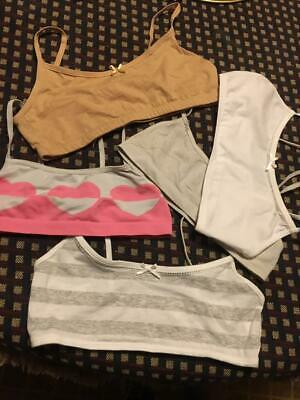 Set of 5 Youth Girls Bras....mixed colors....first bra size....