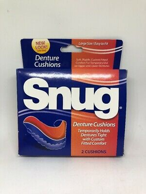 SNUG - Large Size Easy Fit Denture Cushions - 1 box contains 2 cushions