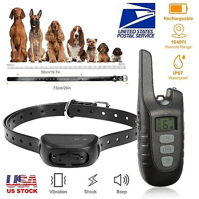 Dog Training Collar Rechargeable Remote Waterproof Electric Shock Pet Training
